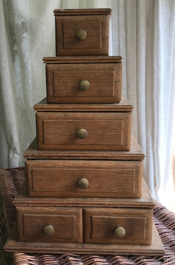 Small oak  and very heavy piece of furniture