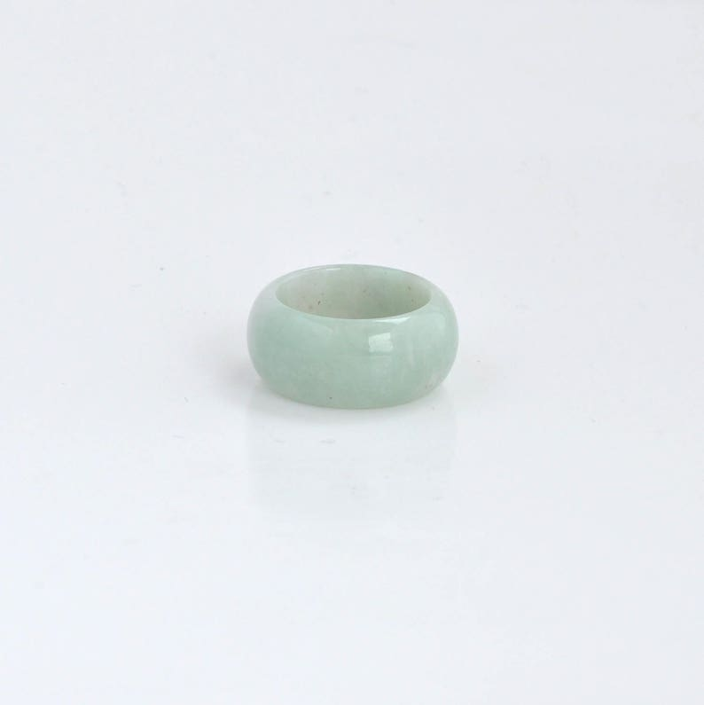 U.S Jadeite Jade Band Fathers Day Gift Gift for Dad Father of the Bride Gift Gift for Husband Natural Gemstone Jade Ring Size 10.5