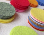 128 Wool Felt 1 quot Circle Die Cuts UPICK Colors - Penny Rug - Bow Making