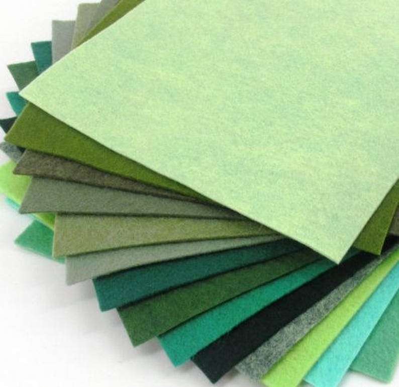 """Merino Wool blend Felt Sheets 21-12/""""X12/""""  Spring Colors Collection"""
