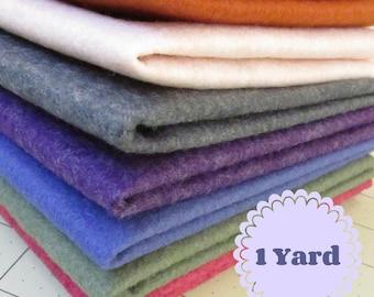 1 Yard Merino Wool blend Felt 35% Wool - Cut to order - You Choose Color