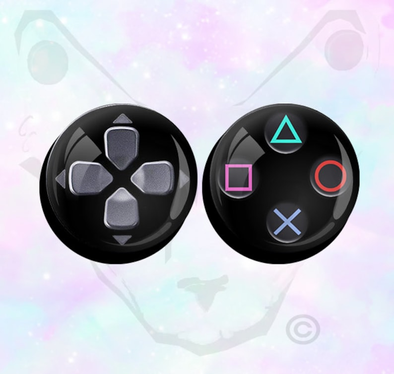 Big Size Pair Playstation PS3 PS4 Buttons and Controller Ear Plugs Pair up  to 50mm (2