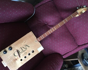 Cigar box guitar Electric and acoustic