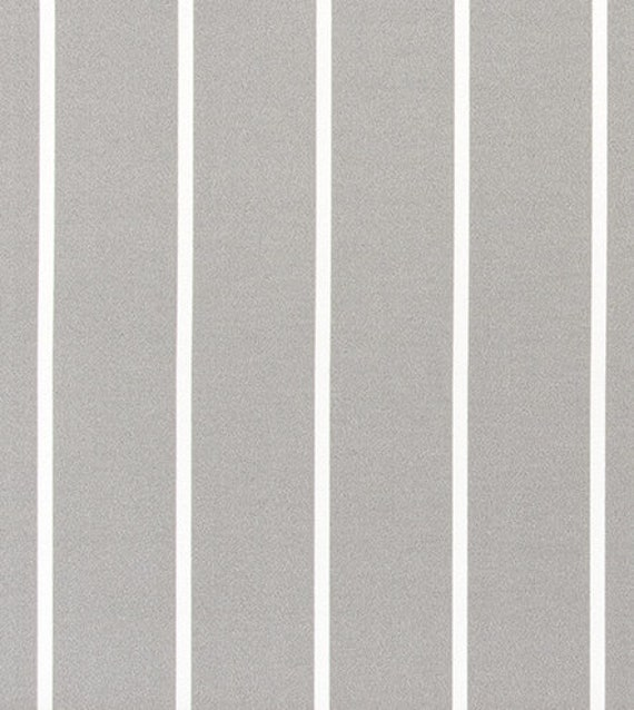 Outdoor Or Indoor Gray White Striped Fabric By The Yard Etsy