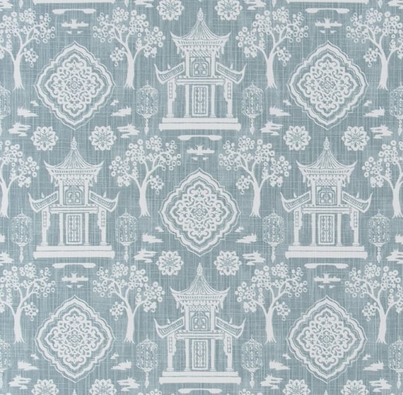Blue And White Home Decor Fabric