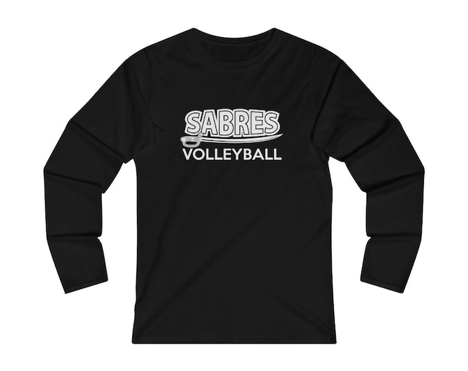 Sabres Volleyball Fitted Long Sleeve Tee