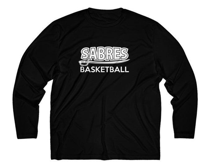 Sabres Basketball Long Sleeve Moisture Absorbing Tee