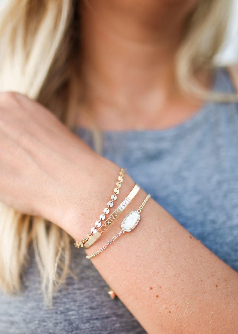 5f3405c2a0b Custom Cuff Bracelet 14k Gold Fill Rose Gold Fill or   Etsy