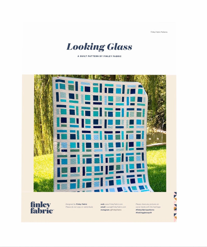 Looking Glass Quilt Pattern  PDF image 0