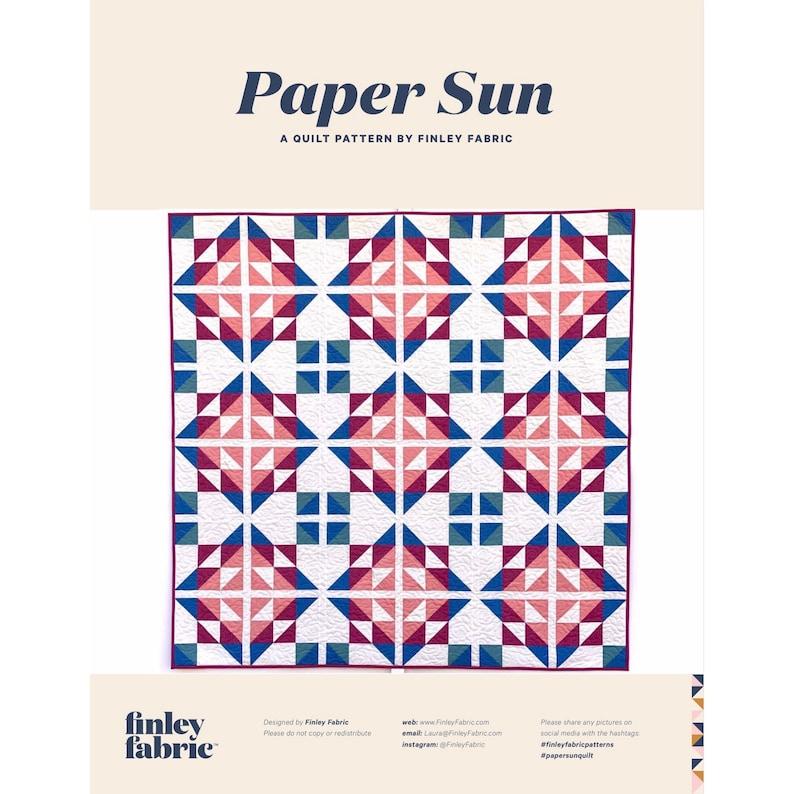 Paper Sun Quilt Pattern  PDF image 0