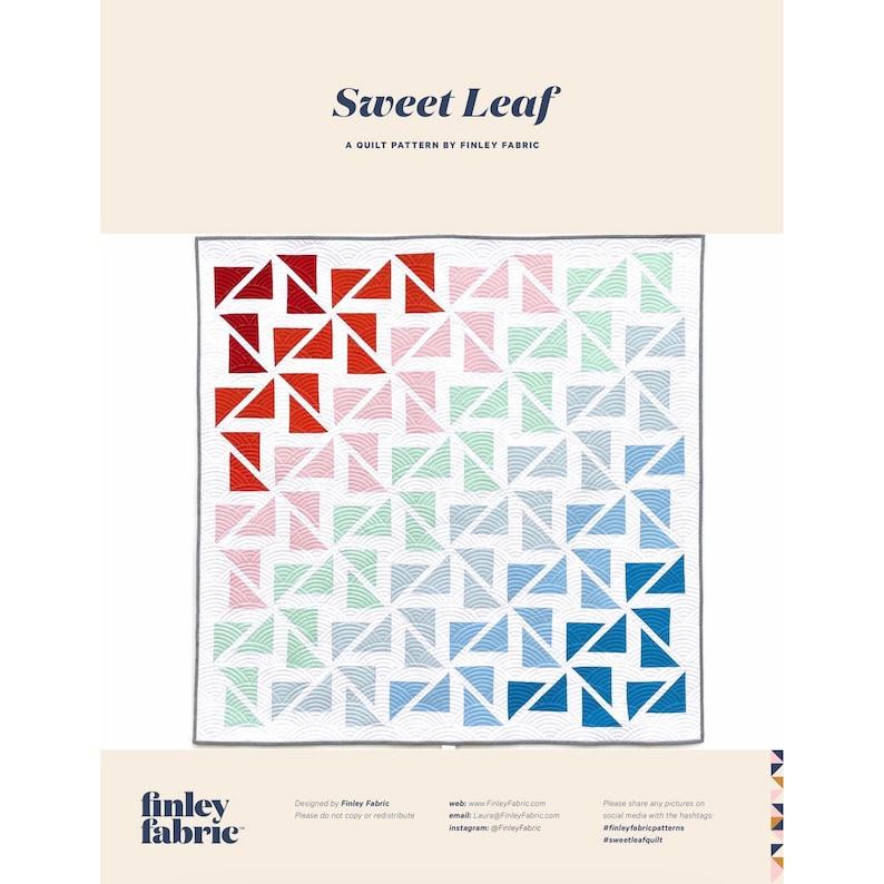 Sweet Leaf Quilt Pattern  PDF image 0