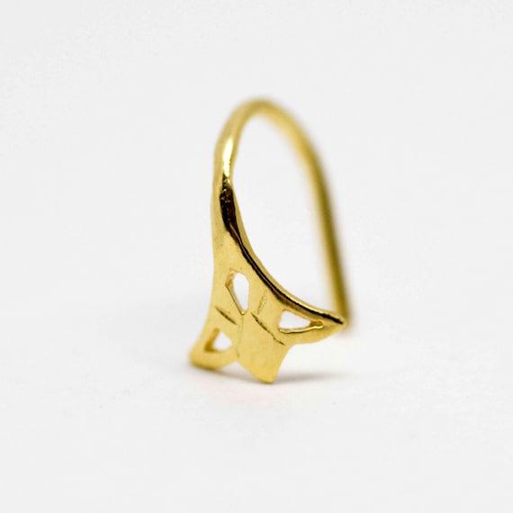 Gold Nose Ring Gold Nose Hoop Indian Nose Ring Tribal Nose Etsy