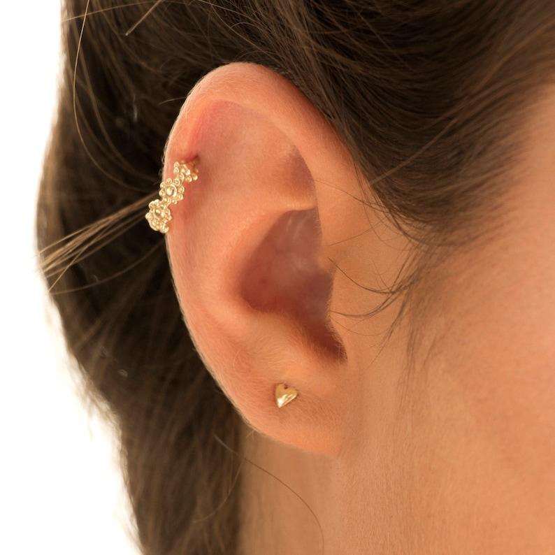 303e62f9b Indian Ear Piercing Silver Cartilage Ear Cuff Gold Helix | Etsy