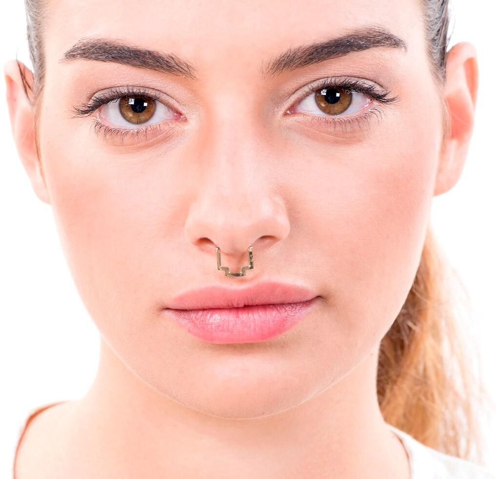 Septum Ring Septum Piercing Gold Septum Nose Piercing Septum Jewelry 14k Gold Piercing Jewelry Nose Ring Hoop 18g 20g Septum Ring