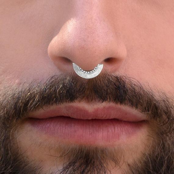 Septum for Men Gold Septum Ring Unique Septum Jewelry Daith Piercing Tribal Septum Men/'s Septum Indian Septum Daith Earring 20g