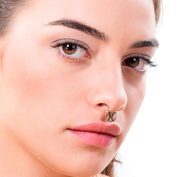 Nose Piercing Gold Septum Ring Nose Jewelry Gold Piercing Etsy