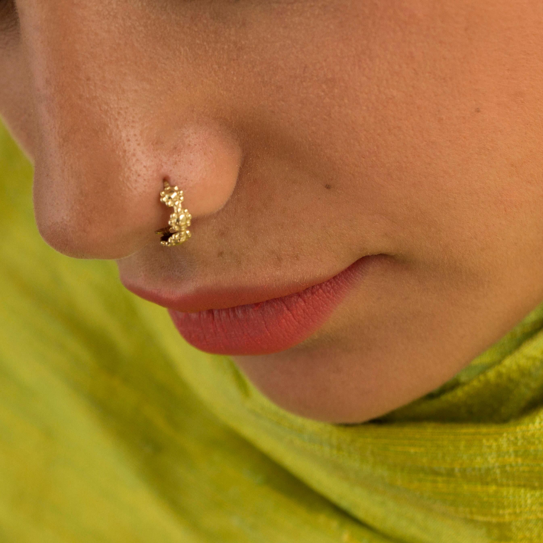 Nose Ring Cartilage Earring Nose Piercing Gold Nose Ring Etsy