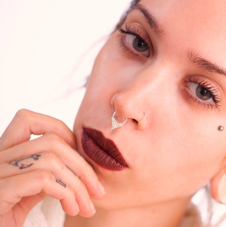 Septum Jewelry Silver Septum Ring Gold Septum Piercing Etsy