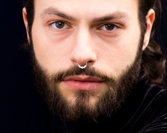 Silver Septum Ring Septum Jewelry Septum For Men Men S Etsy