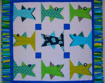 One Fish Paper Pieced Quilt Pattern in PDF