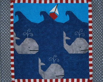 Whale, Whale, Whale Paper Pieced Pattern in PDF