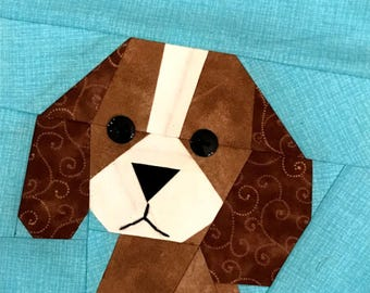 King Charles Cavalier Paper Pieced Pattern in PDF