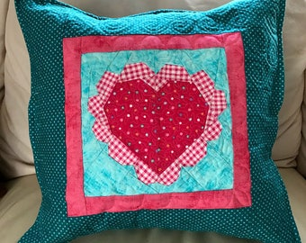 Scalloped Heart Pillow Paper Pieced Pattern in PDF