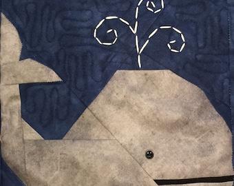 Paper Pieced Whale Block Pattern in PDF