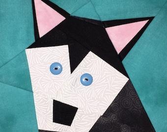Husky Paper Pieced Block Pattern in PDF