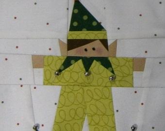 Paper Pieced Elf Block