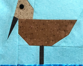 Sandpiper Paper Piecing Block in PDF