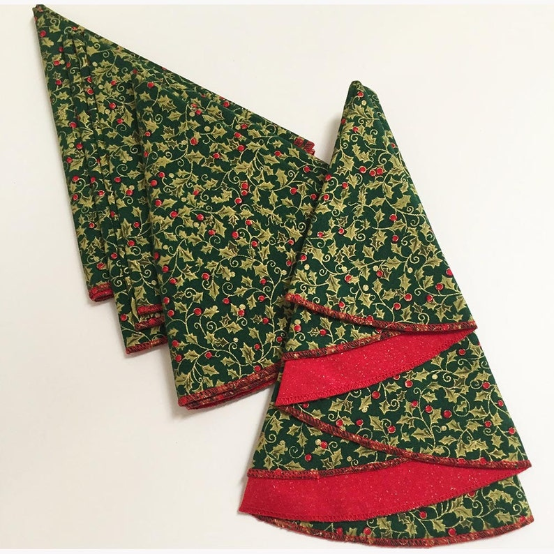 Albero Di Natale A Forma Di Tovaglioli Tovaglioli Rossi E Etsy