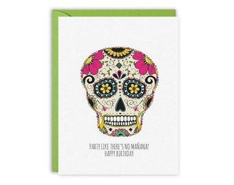 Multi colour Day of the Dead card