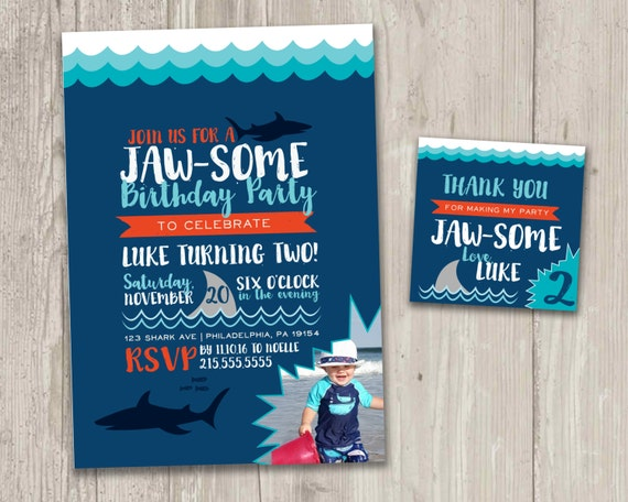 Shark birthday invitation jawsome birthday party shark bite etsy image 0 filmwisefo