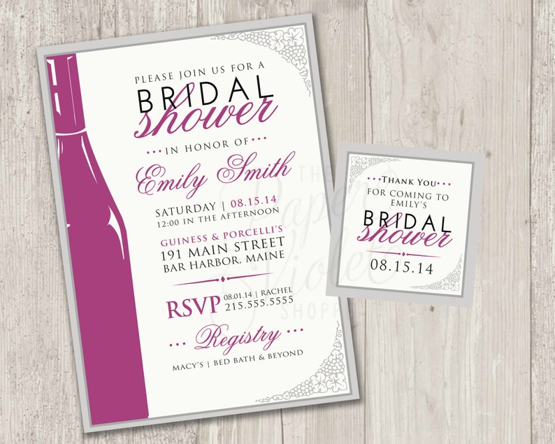 graphic regarding Free Printable Wine Tags for Bridal Shower identify Wine Companion Bridal Shower Invitation, Wine themed bridal shower invitation, electronic report