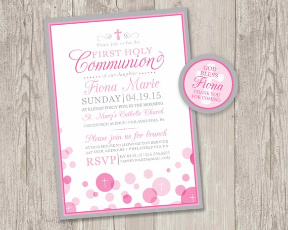 photo regarding First Communion Invitations Free Printable known as Printable : Initial Holy Communion invites Free of charge matching thank on your own tag  electronic record