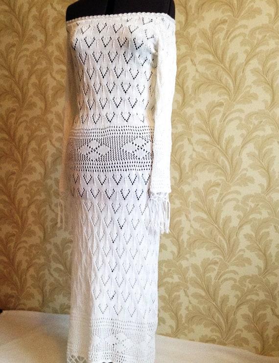women dress wedding evening Maxi white boho order sexy long sleeve crochet long lace replica to gift beach hippie made bride 4wYxdYq