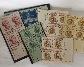 U. S. Postal Plate Blocks - Collectibles from the 1950's