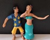 Lilo Stitch jiggling bobbling girl female hula dancer collector toy, hula dancer cake topper, McDonalds toy, smoke free