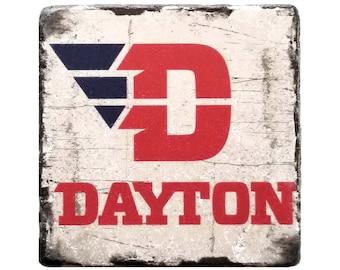 University Of Dayton, Ohio College Coaster, College Dorm Decor, Housewarming Gift, Home Decor, Man Cave Decor, New Home Gift, Birthday Gift