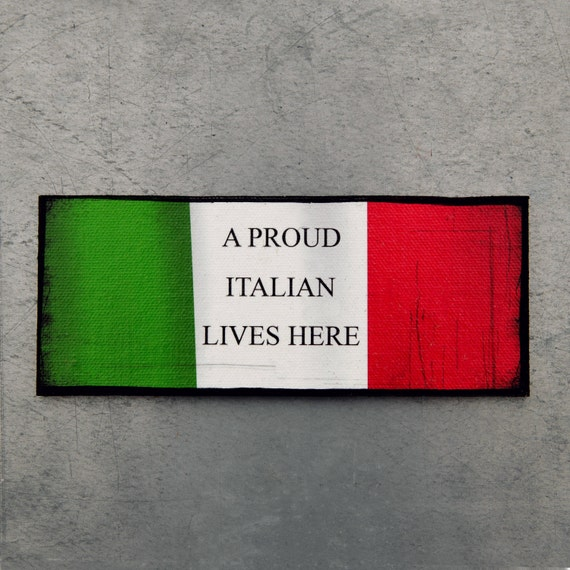 Italian Magnet Proud Italian Magnet Italy Flag Magnet Man Cave Decor Refrigerator Magnet Kitchen Decor Italy Office Magnet