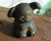 Cast Iron Griswold Pup Puppy Advertising Figurine Figure Paperweight Mini Miniature Tiny Dog Collectibles Home Decor