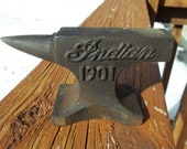 Cast Iron INDIAN MOTORCYCLES 1901 Mini Anvil Saleman Sample Blacksmith Tool Motorcycle Cycle Heavy Anvil