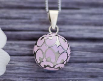 Pregnancy necklace - Pink - Mom-to-be - Musical necklace - Baby - Babyshower - Birth - Pregnancy - Futur mom - Bola - Olfee - Harmony ball