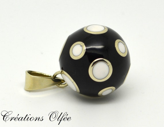 Maternity jewel Musical ball Pregnancy necklace Black ball Bola Mom-to-be Olfee Silver heart
