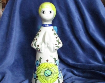 Tonala Mexican Praying Angel Vintage Candleholder - Signed