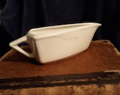 Art Deco Gravy Boat Homer Laughlin Milford Vintage