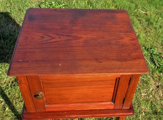 De D'extrémité Bois Vintage Pin Table Chevet Authentique CxBoedrW