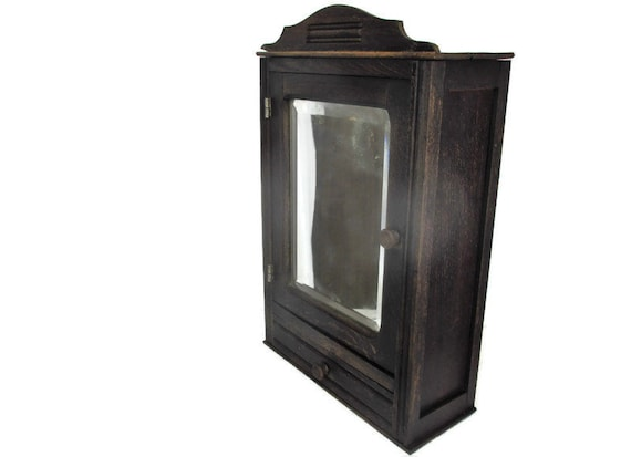Kitchen Apothecary Medicine Bathroom Wall Cabinet Hand Carved Etsy