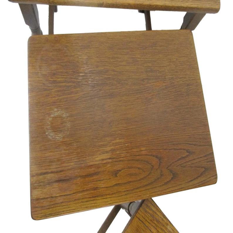 Set of 3 Wood Stacking Nesting Tables Vintage Mid Century Oak